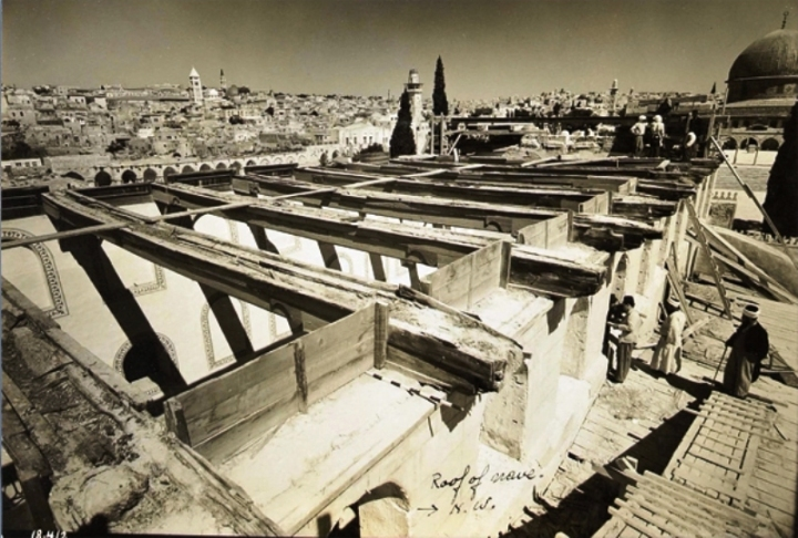 Wooden Beams From Herod's Temple Mount Revealed in Al-Aqsa Mosque Restoration