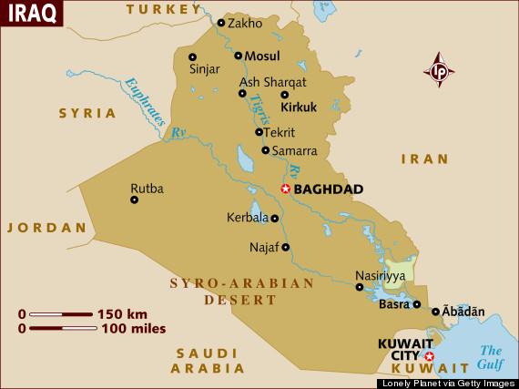 o iraq map b