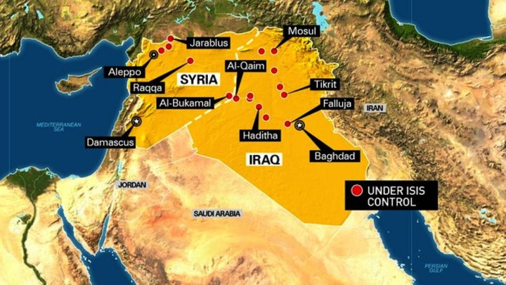 ISIS Control Map