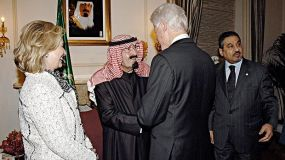Saudi King and Clintons