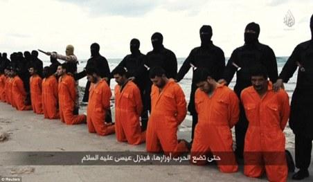 21 Christians Kneeling