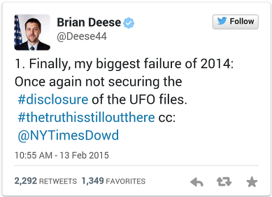 UFO Tweet